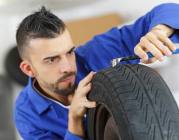 Reifen reparieren lassen